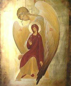 piękna ikona Zwiastowania - beautiful Annunciation icon