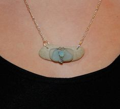 This necklace was made with natural by DriftwoodDaydreamer on Etsy, $30.00