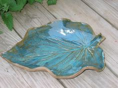 Dish Pottery Leaf Plate Stoneware Platter 0512007