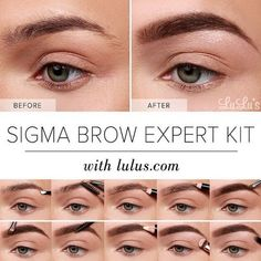 Beginner to #brows? Our friends at @lulus created this wonderful pictorial using our Brow Expert Kit and it's so easy to recreate!  Included in Kit:  E75 - Angled Brow E80 - Brow & Lash dual-ended brush Expert Trim Sharpener Expert Tweezer Brow Powder Duo Brow Highlight Duo Brow Wax