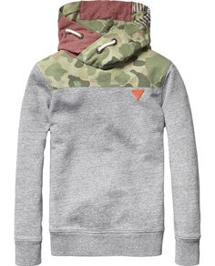 Patchwork Hooded Sweater   Sweat   Boy's Clothing at Scotch & Soda