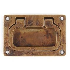 DISTRESSED ANTQ BRASS RECESSED PULL - for dresser