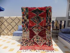 Moroccan Rag Rug / Boucherouite / Bohemian / by MoroccanLooms