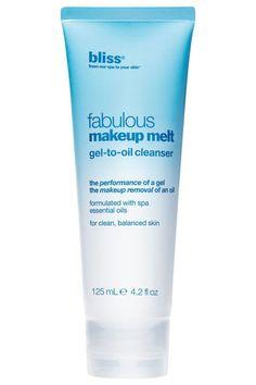 Bliss Fabulous Makeup Melt Gel-to-Oil Cleanser, $28, nordstrom.com.