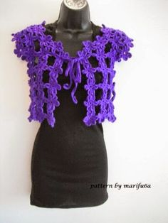 crochet video tutorials and patterns with charts: how to crochet easy flower bolero for beginners fr...