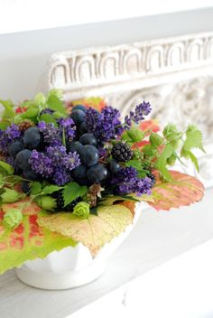 Summer Bouquet With Fruit - This would be a great way to use the BlueBerries with the centerpieces!