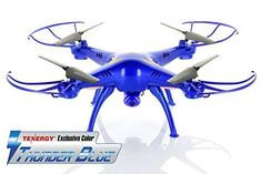 *Tenergy Exclusive* Syma X5SC 2.4G Headless RTF Quadcopter with 2MP 720P HD Camera - Thunder Blue Color Deluxe Package w/ Extra battery (more fly time) & accessories | Drone Shop World