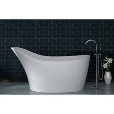 Sleigh freestanding bath in gloss