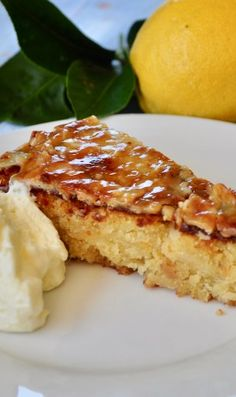 Italian lemon cake - gluten free, is so moist, lemony with white chocolate as a secret ingredient that adds a luxury smoothness to the dense crumb. Lemon Dessert Recipes, Lemon Recipes, Tart Recipes, Sweet Recipes, Baking Recipes, Gluten Free Cakes, Gluten Free Baking, Gluten Free Desserts, Italian Lemon Cake