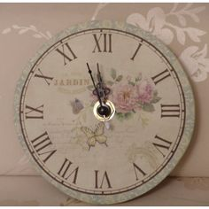 Gisela Graham Chintz Jardin Duck Egg and Cream Small Wall Clock