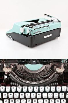 Vintage Schreibmaschine Olympia Colortip S von ILikeToType auf Etsy