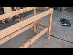How to Build Simple Workbenches for a Workshop or Garage - YouTube