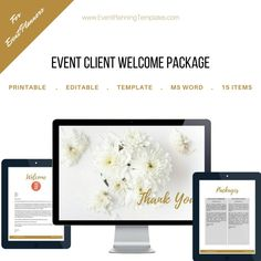 Excited to share the latest addition to my #etsy shop: Client Welcome Package for Event and Wedding Planners. Customizable Printable Template. https://etsy.me/2GKxQDk #everythingelse #graphicdesign #gold #eventplanner #weddingplanner #eventplanning #welcomeletter