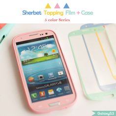 Color Case   Screen Film Set (Galaxy S3)HappyMori specializes in quality cell phone cases designed at the design studio in South Korea. You