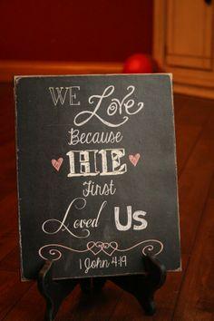 Mounted Valentine Chalkboard print