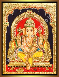 Ganesha : Tanjore Paintings!, Traditional Tanjore Paintings, Oil Paintings, Reverse Glass Paintings, Stain Glass Paintings, Gift Articles and All interior solutions.