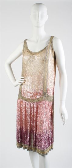 Tan, Pink and Purple Sequin Flapper Dress, Your brides maid dresses. Flapper Style, Flapper Fashion, Flapper Era, 1920s Style, Flapper Girls, 1900s Fashion, Vintage Fashion, Belle Epoque, Gatsby