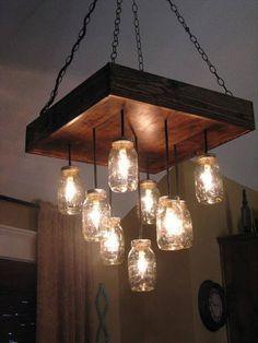 Mueblesdepalets.net: 6 ejemplos de lámparas de techo hechas con palets