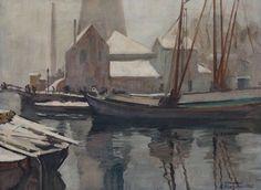 Winters havengezicht, 1925