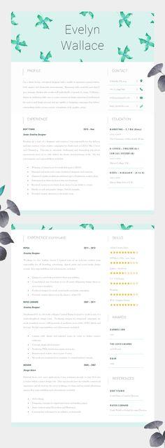CV Template Résumé Template for Word + Cover Letter + Advice 1