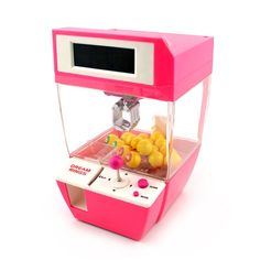 Coin Operated Candy Grabber Doll Balls Catcher Game Fun Toys Mini Crane Claw Machine With Alarm Clock Function For Kids Clip Dolls, Old Candy, Origami Mobile, Claw Machine, Electronic Toys, Mini Things, Catcher, Child Doll, Christmas Gifts For Kids