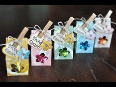 Tutorial: Mini-Milchkarton für Schokoeier mit Produkten von Stampin' Up! - YouTube
