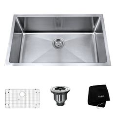 Kraus�Handmade 16-Gauge Single-Basin Undermount Stainless Steel Kitchen Sink...must have!