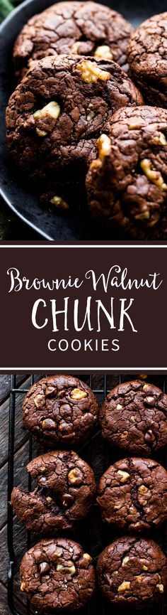 Brownie Walnut Chunk Cookies