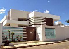 20 Fachadas de casas modernas com muros e port�es!