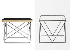 HIGH/LOW Left: Eames LTR, $209 from DWR Right: Magical Thinking Diamond Side Table from Urban Outfitters, $119