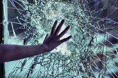 hand, glass, and broken image