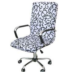 Elegant Office Computer Chair Cover Side Zipper Design Arm Elastic Slipcover Decor