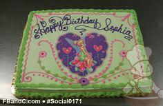 Tinkerbell Heart Shaped Birthday Cake