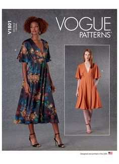 Vogue Patterns, Sewing Patterns, Extra Fabric, Line Art, Pattern Design, Bodice, Sewing Projects, Shirt Dress