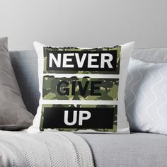'Never give up goods' Throw Pillow by Flip Clock, Giving Up, Iphone Wallet, Never Give Up, It Is Finished, Throw Pillows, Art Prints, Printed, Awesome