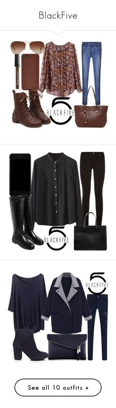 """""""BlackFive"""" by j-n-a ❤ liked on Polyvore featuring FOSSIL, Butter London, Rayban, Joe's Jeans, County Of Milan, Paige Denim, Ash, Henri Bendel, OPI and MAKE UP FOR EVER"""