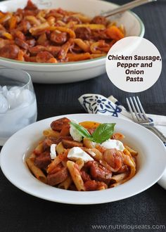 Chicken Sausage, Pepper and Onion Pasta | Udi's Gluten Free