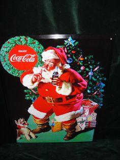 Nu in de #Catawiki veilingen: Speciale uitgave voor de Kerst  - Coca Cola Reclamebord - Metaal - Limited Edition