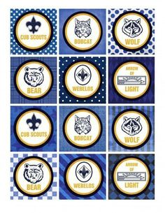 cub scout blue and gold program template - blue and gold banquet program template fleur de lis