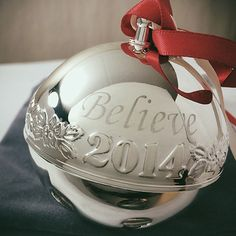 "2014 ""Believe"" Sleigh Bell Ornament"