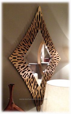 Buy Bronzed / Gold Diamond Shaped Mirror 166 x 100 cm online now, with Free UK Delivery Light Brow, Bronze Mirror, Gold Mirrors, Diamond Shapes, Wall Decor, House Design, House Styles, Interior, Frame