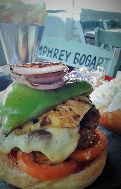 """Oink Oink"" pork burger at La Plancha, La Marina Guest house"