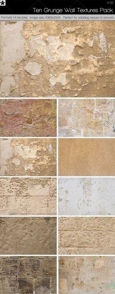 10 Grunge Wall Textures Pack 1 by *HollowIchigoBanki on deviantART
