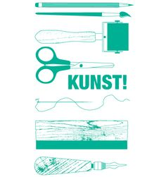 """""""Kunst!"""" A3 poster for Back to Back Press  - Things on Fire"""