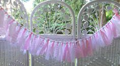 Mini Fabric Garland-Pinks by FabricWorksByLauraL on Etsy
