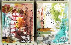 So intriguing to look at. Love the colors and layers. By Julie Fei-Fan Balzer, ArtJournal-sm