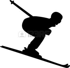 Illustration of Silhouette set of different winter sports skiing part 1 vector art, clipart and stock vectors. Man Vector, Vector Art, Cute Diys, Chowder, Skiing, Stencils, Challenges, Window, Clip Art