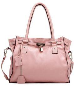 Leather camel pink purple green shoulder satchel two ways Ba... - Polyvore
