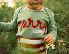 "Swanky Shank Hand Dyed ""Merry & Bright"" Bodysuit or Tee; Christmas Shirt for Girls, Christmas Shirt for babies, Baby Christmas Shirt"