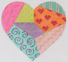 "New Kate Dickerson ""Funky Fiesta"" Collection -  mini heart ornament"